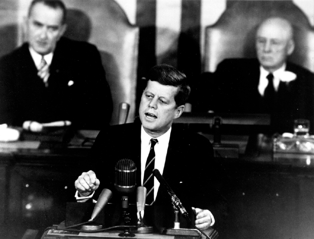 President Kennedy at Congress, May 25, 1961