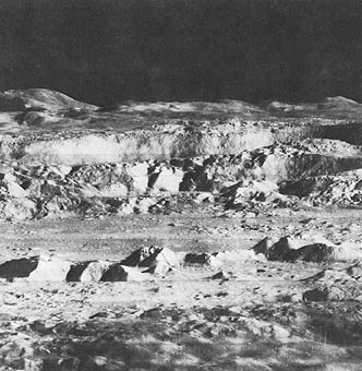 lunar landscape looking at earth - photo #32