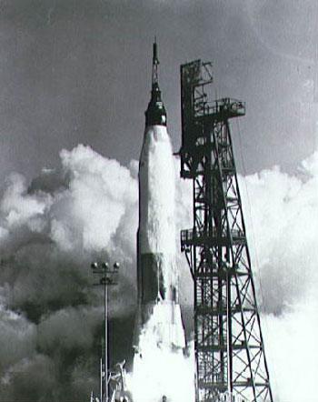 Boeing Images - Mercury-Atlas 3 (MA-3) Unmanned Atlas 100-D Rocket