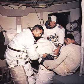 putting on a space suit - photo #1