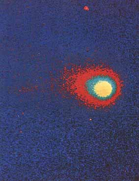 Comet Kohoutek photographed with the far-ultraviolet electrographic camera during a Skylab spacewalkNASA photo p42.jpg