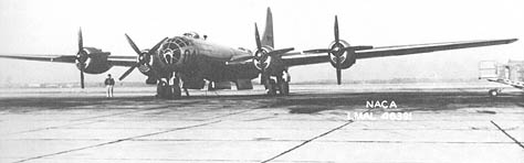 The world's's most advanced bomber in 1944, the Boeing B-29 Superfortress.