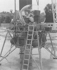 Early LEM used with the Lunar Landing Research Facility.