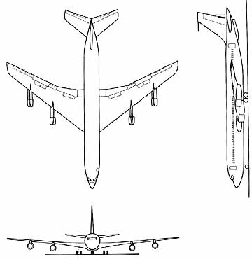 Airplane Drawing Top View