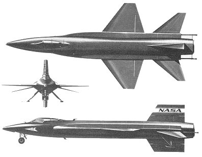 X 15 Landing drawing of the X-15