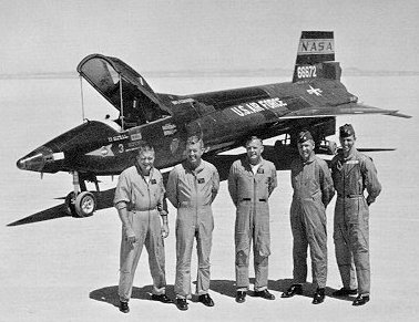 X 15 Cockpit The entire present team of X-15 research pilots includes, from left to ...