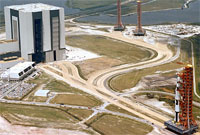 Saturn V and Vehicle Assembly Building