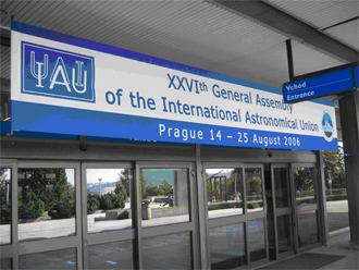The venue for the IAU General Assembly in Prague, where the decision was made to reclassify Pluto.