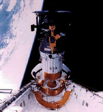 Galileo being deployed from the Space Shuttle Atlantis