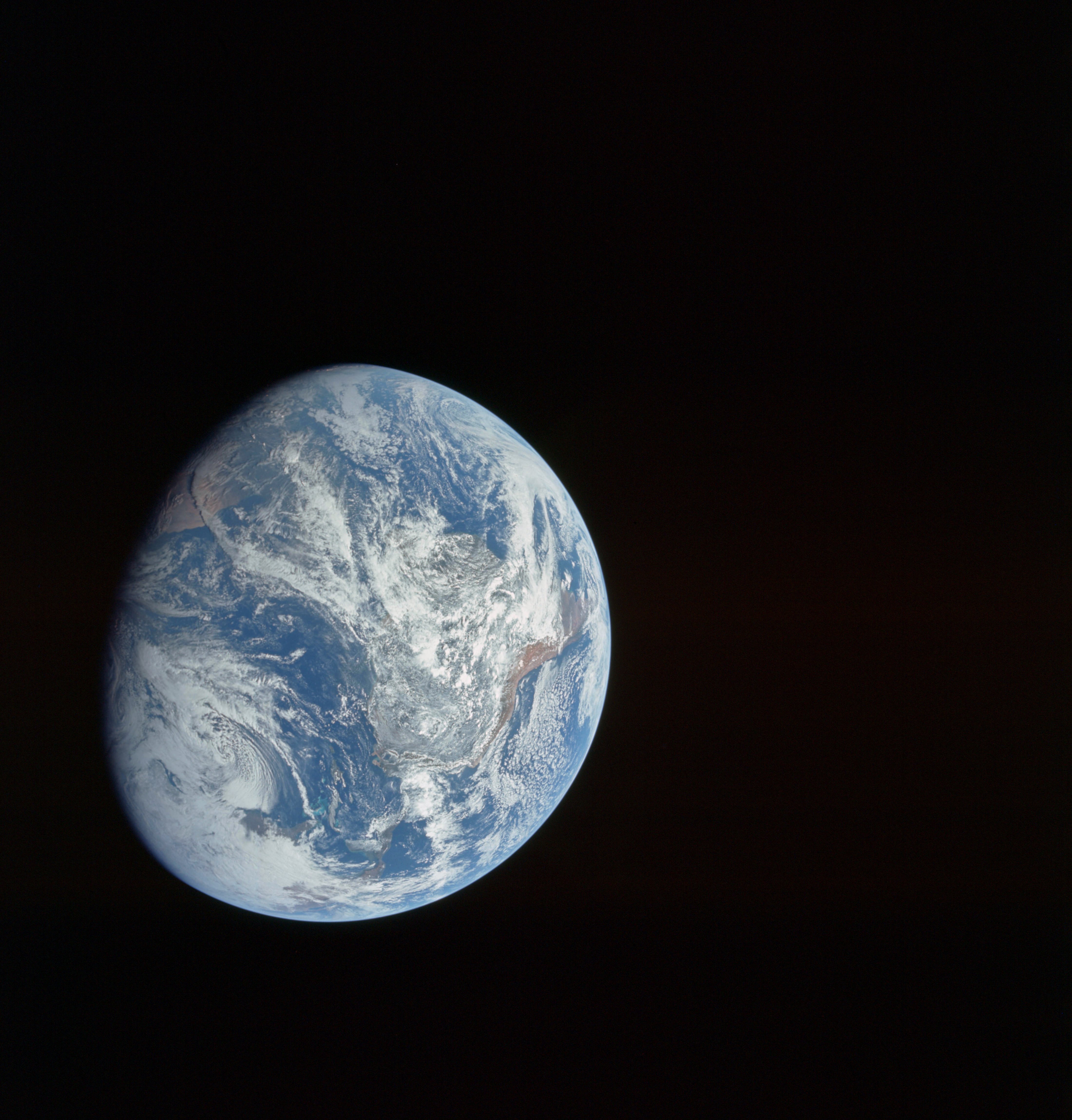 First photo of the whole Earth taken by a human in space