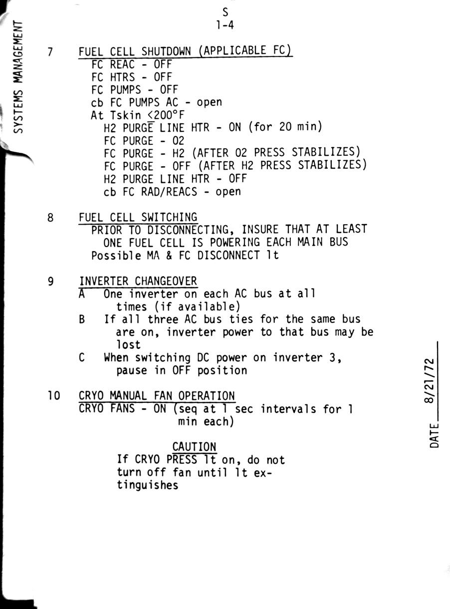 Index Journal Csm Checklist System 17 Page - Apollo Flight