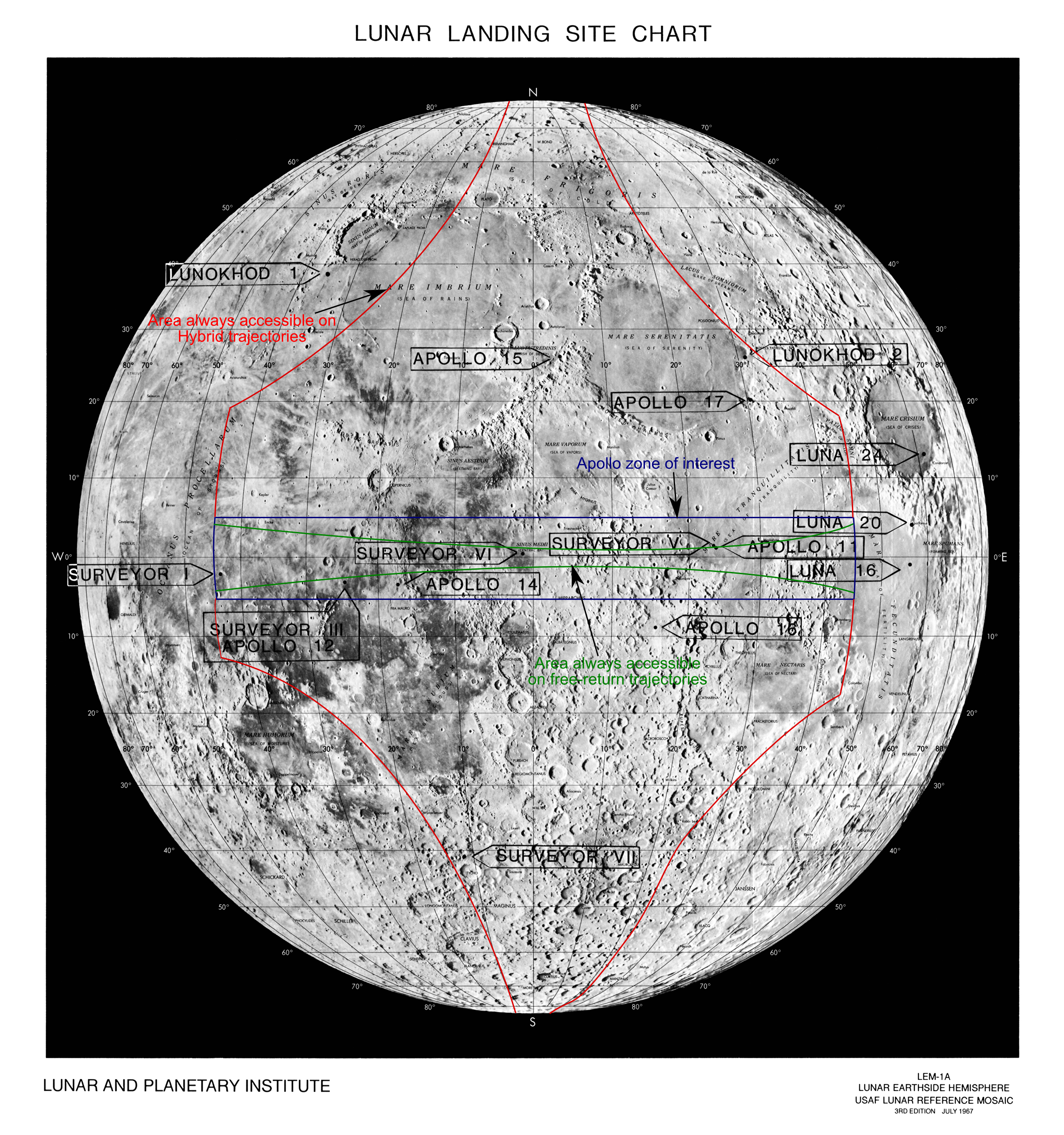 History of the lunar charts