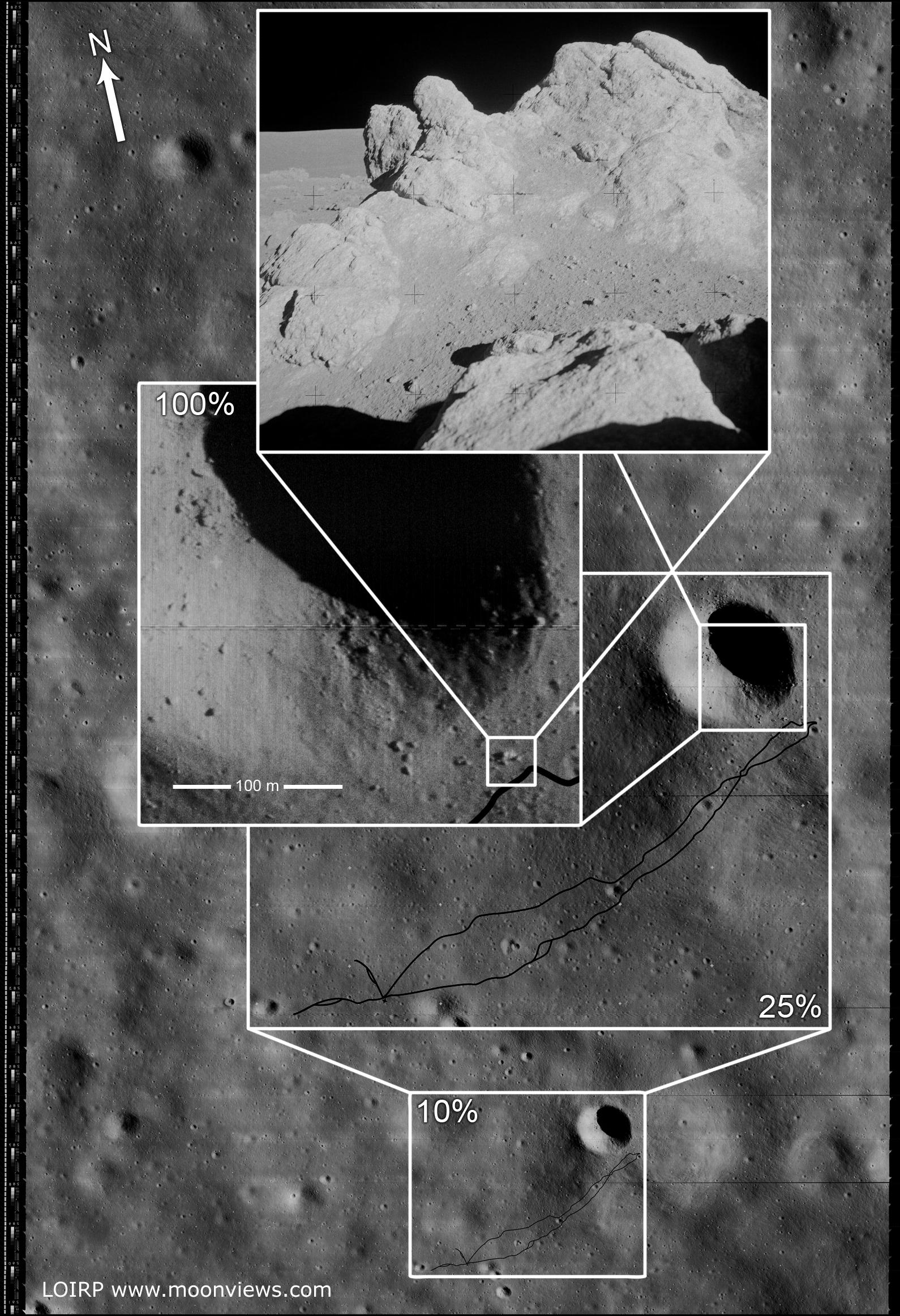 apollo 14 landing site - HD1590×2324