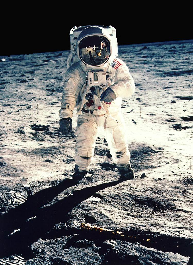 Aldrin on the moon (NASA photo)