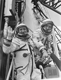 Leonov and Kubasov before launch