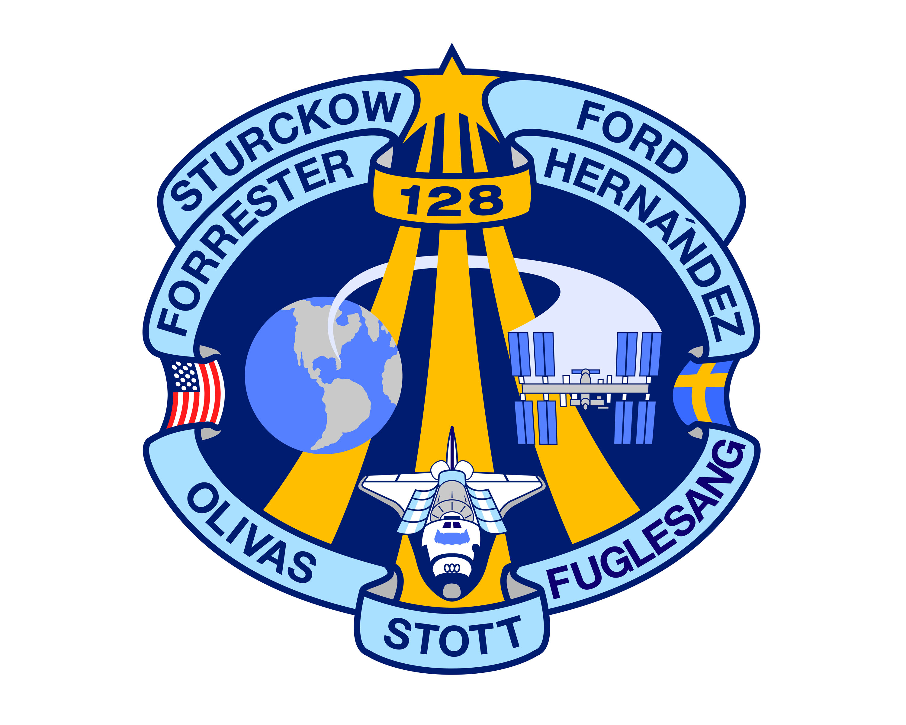 STS-128 mission patch.