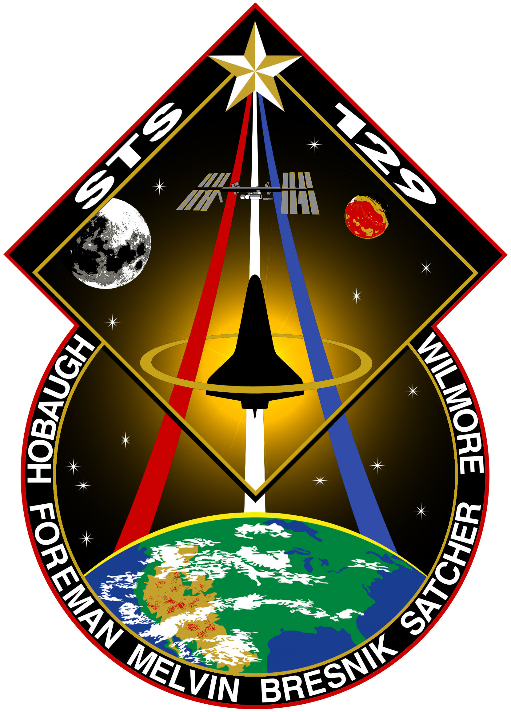 STS-129 mission patch.