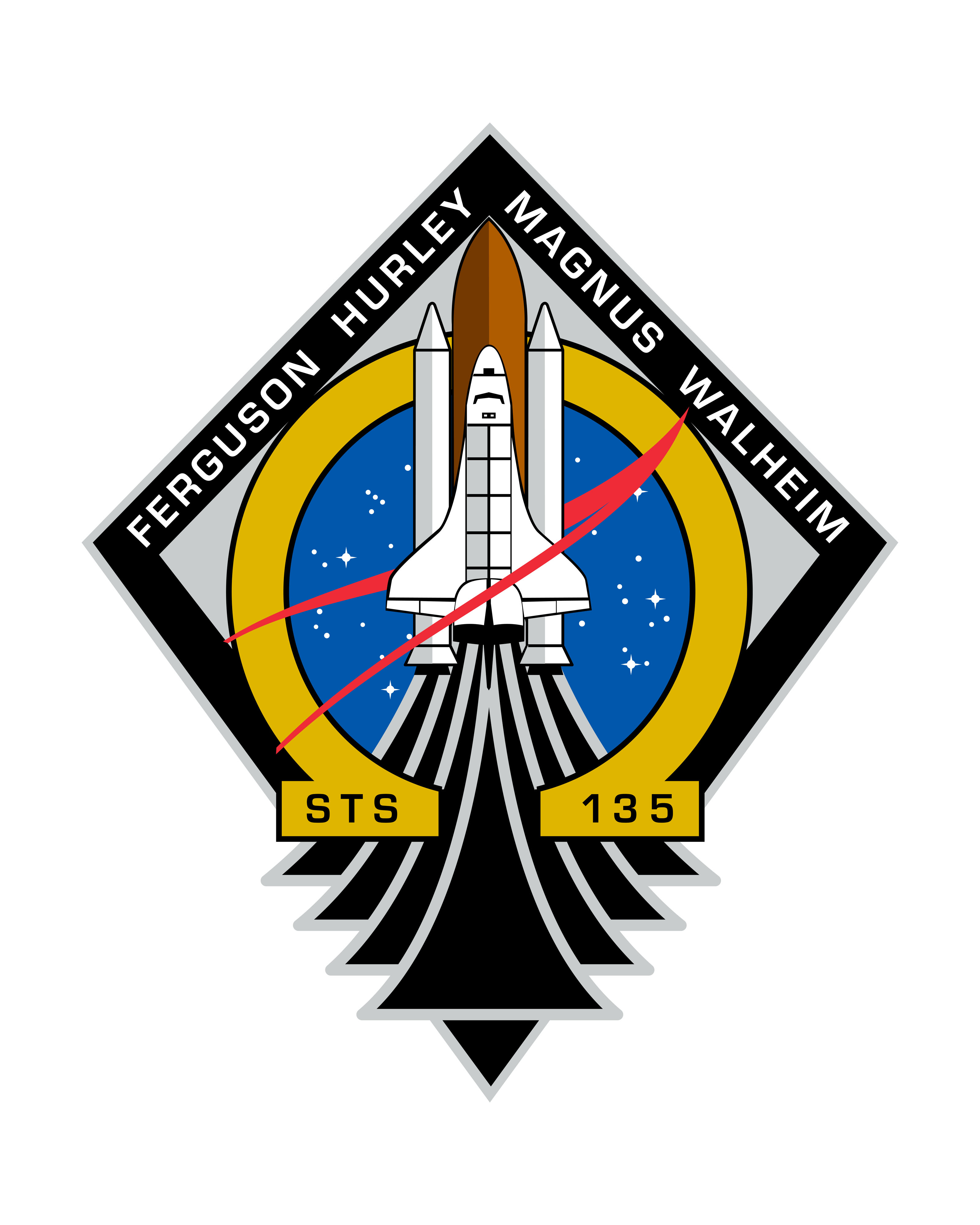 STS-135 Mission Crew Patch